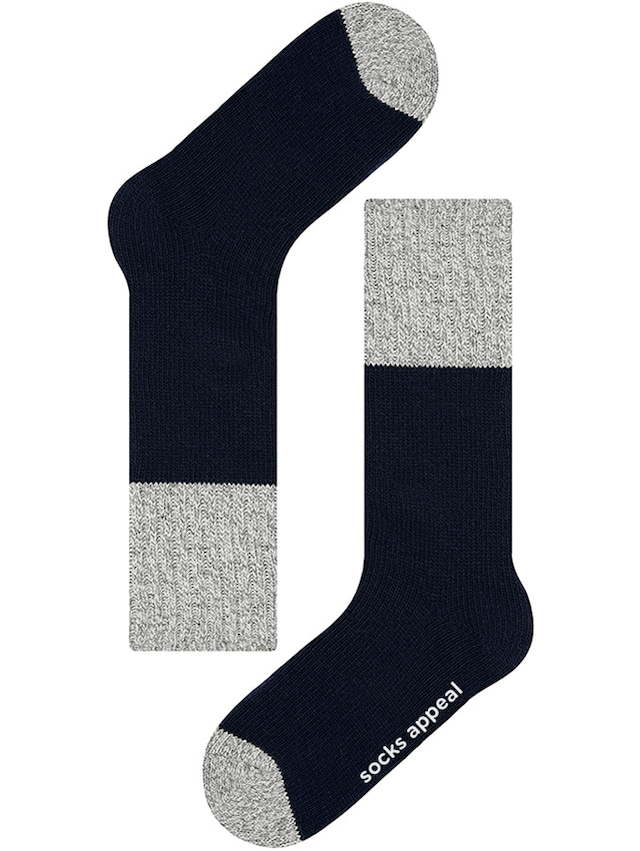 WOOL TWO TONE NAVY