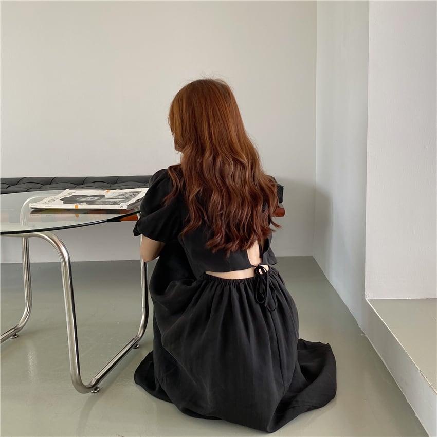Long Aline onepiece(black)