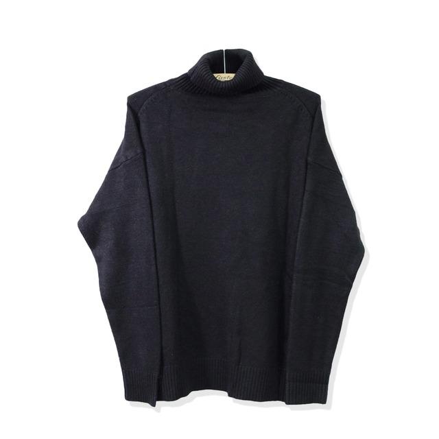 オーバーサイズタートルネックセーター   ニット  ハイネック ゆったり 肉厚