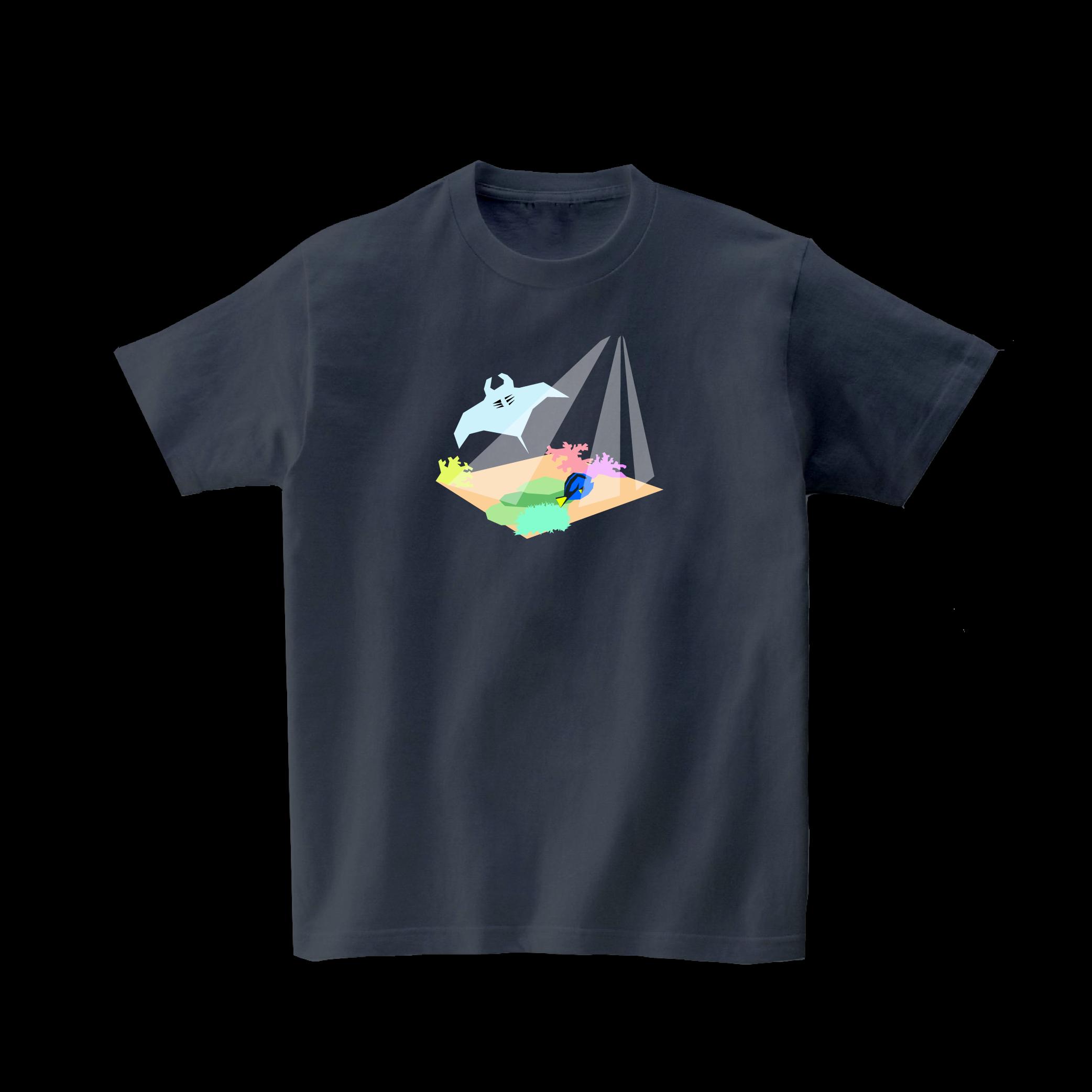 動物Tシャツ-ダイビング(デニムグレー)