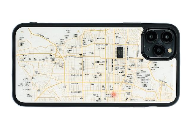 FLASH 京都回路地図 iPhone 12 Pro Max ケース 白【東京回路線図A5クリアファイルをプレゼント】