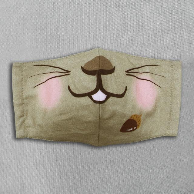 【抗菌・抗ウィルス加工マスク/受注販売】エゾリス|動物マスク
