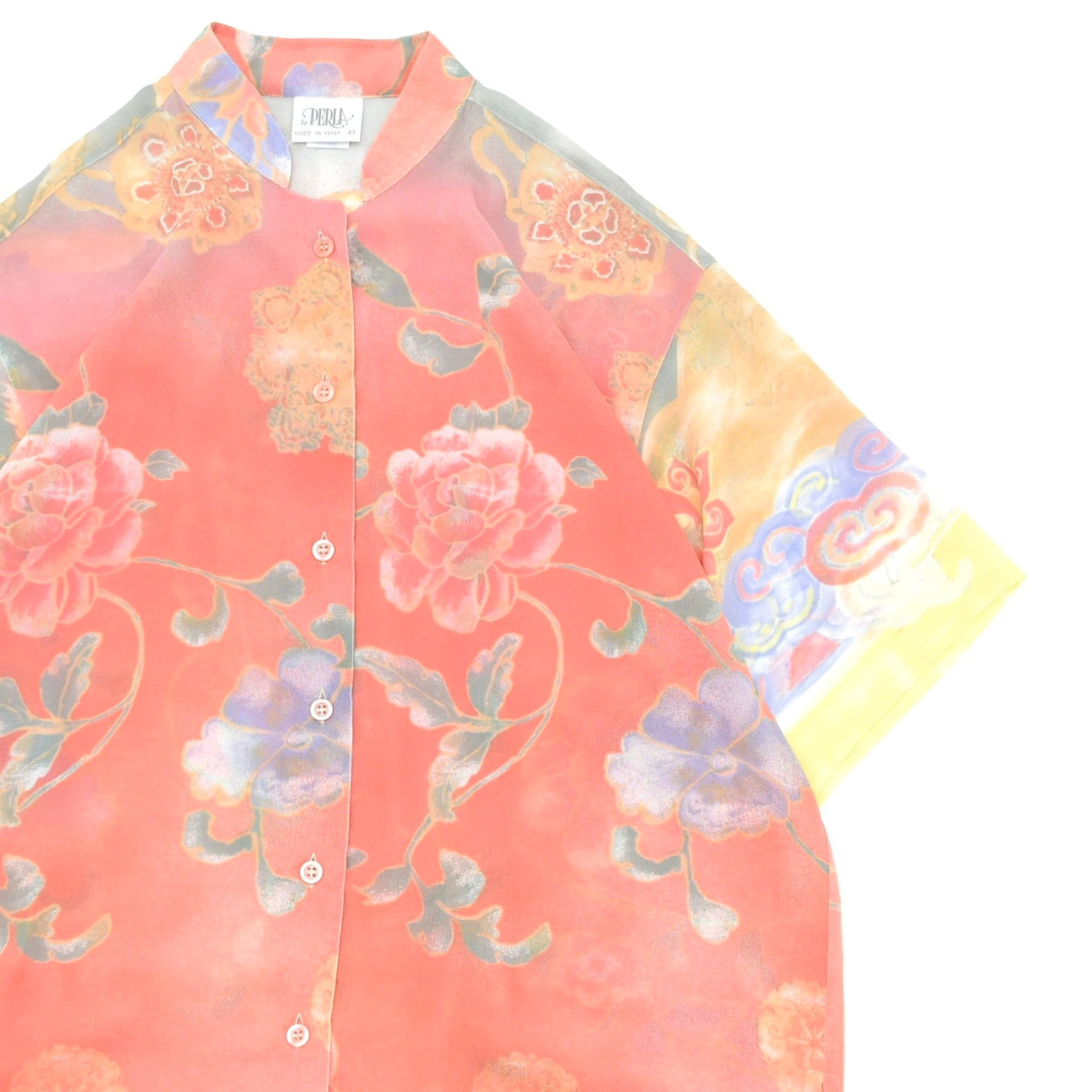 Eur Vtg la PERLA exotic pattern long shirt Made in ITALY