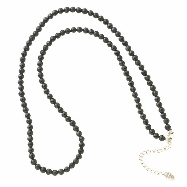 ブラックスピネルネックレス ACCN0007 Black spinel necklace
