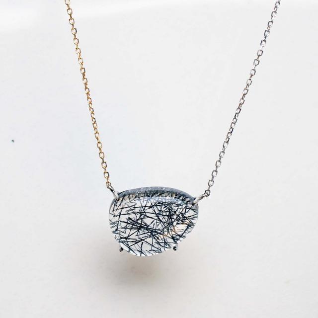 Black Tourmaline Necklace(N172-BT)