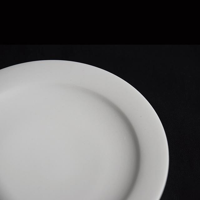 森岡希世子 Kiyoko Morioka  白磁 リム皿15cm