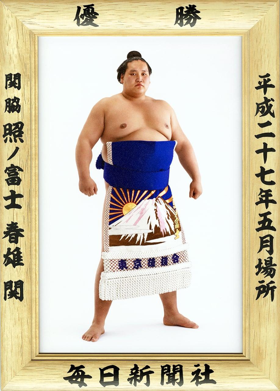 大相撲優勝額 平成27年5月場所・照ノ富士関