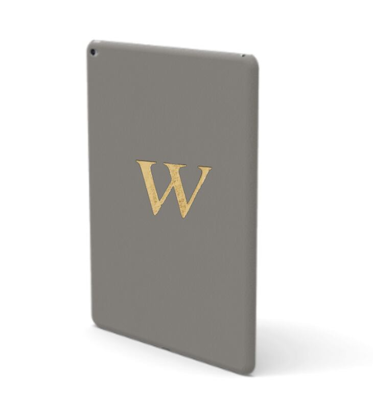 iPad Premium Smooth Leather Case (Concrete Grey)