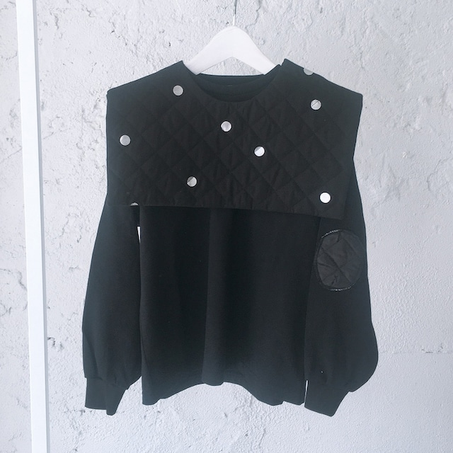 REMOVABLE QUILTING SAILOR COLLAR L/S TEE / LL