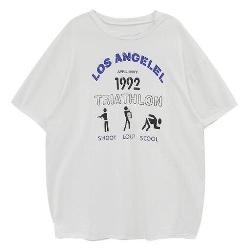 Triathlon print T-shirt(トライアスロンプリントTシャツ)b-080