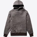 Wool Knit Snaps Hoodie(Tartan)