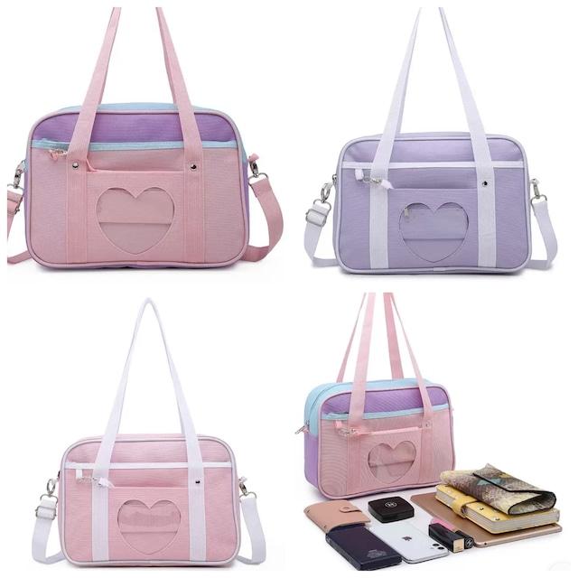 3カラー ★ 小物 バッグ ショルダー パステルカラー スクールバッグ