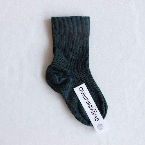 《MINGO. 2021AW》Socks / Dark Emerald