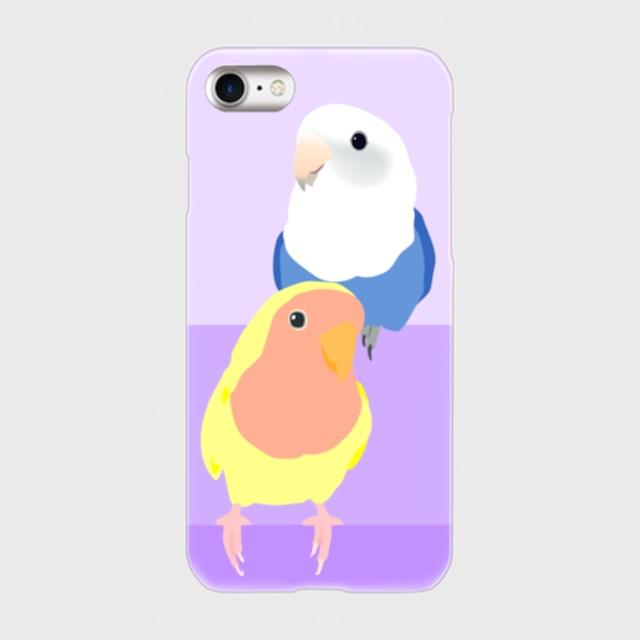 iPhoneケース コザクラインコ ルチノー&バイオレットオパーリン【各機種対応】