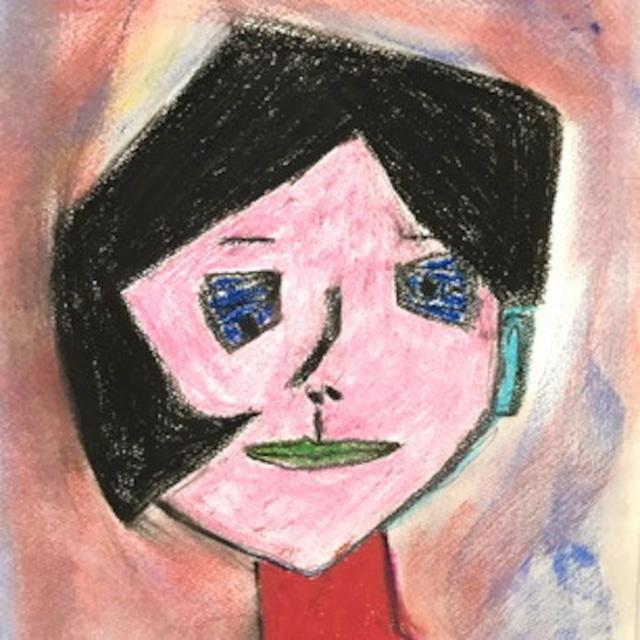 絵画 絵 ピクチャー 縁起画 モダン シェアハウス アートパネル アート art 14cm×14cm 一人暮らし 送料無料 インテリア 雑貨 壁掛け 置物 おしゃれ 現代アート 抽象画 ロココロ 画家 : Mitsuo Ito 作品 : a girl