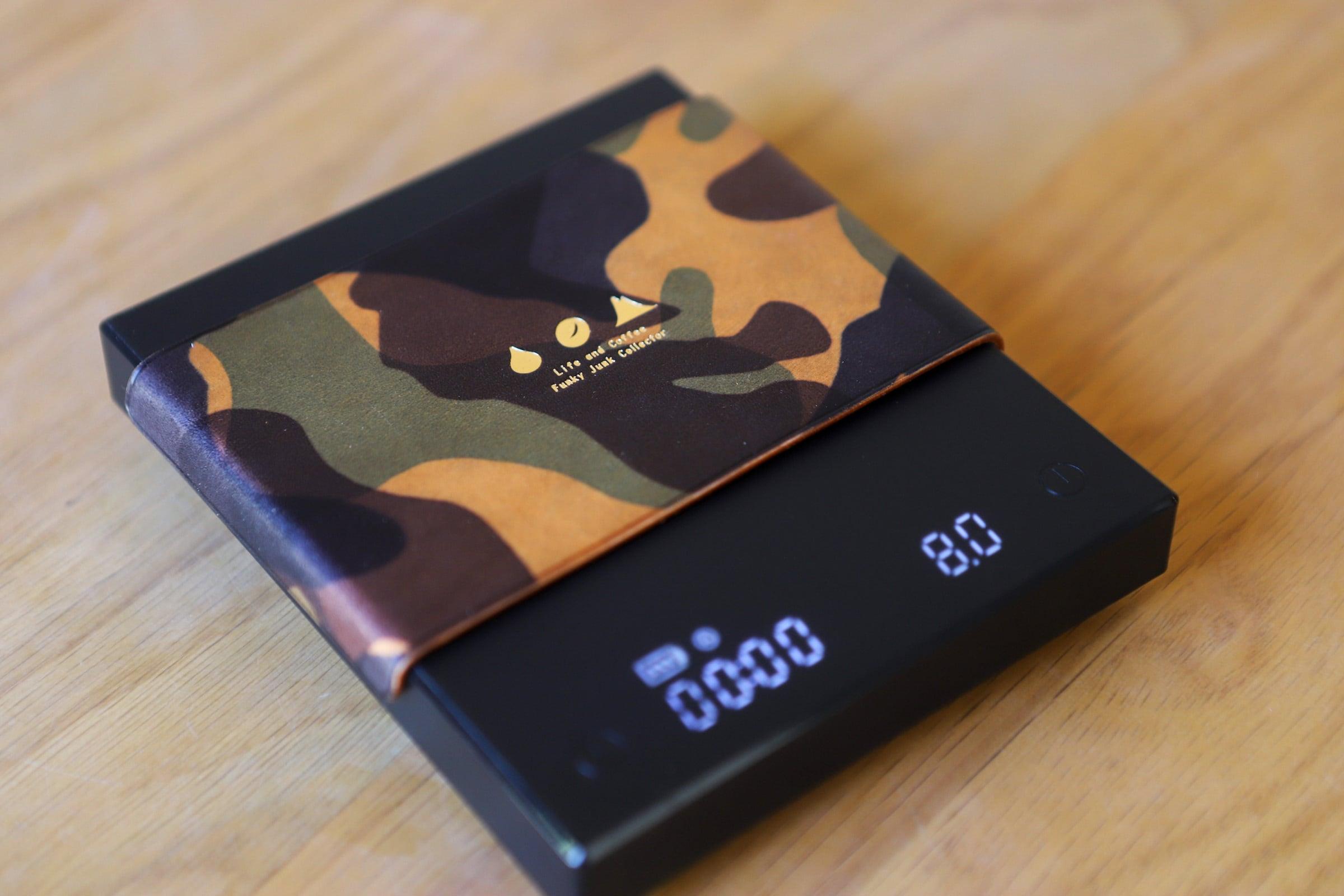 コーヒースケールカバー(オレンジ迷彩柄)TIMEMORE  BLACK MIRROR basic+ 用