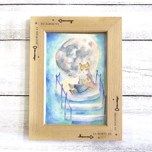 【青りんごなな】月ティータイム/イラスト原画