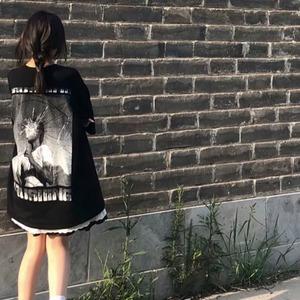 【トップス】合わせやすいINS風ストリートプリントルーズTシャツ52267702