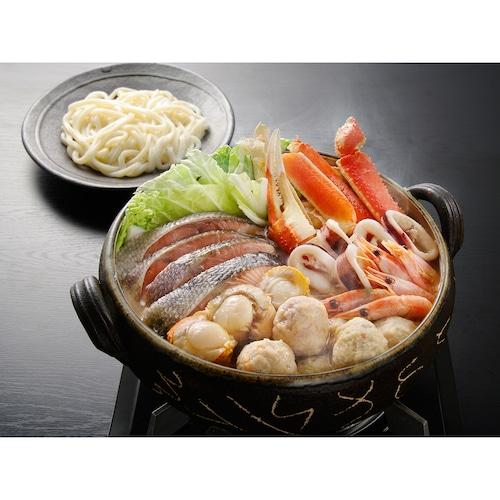 三種つみれと蟹の石狩鍋【ずわいがに 秋鮭 海老 帆立】【北海道】