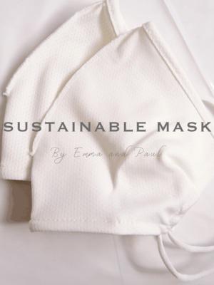 布 マスク 2枚入り / 防臭・抗菌糸「デオセル」使用 ※接触冷感
