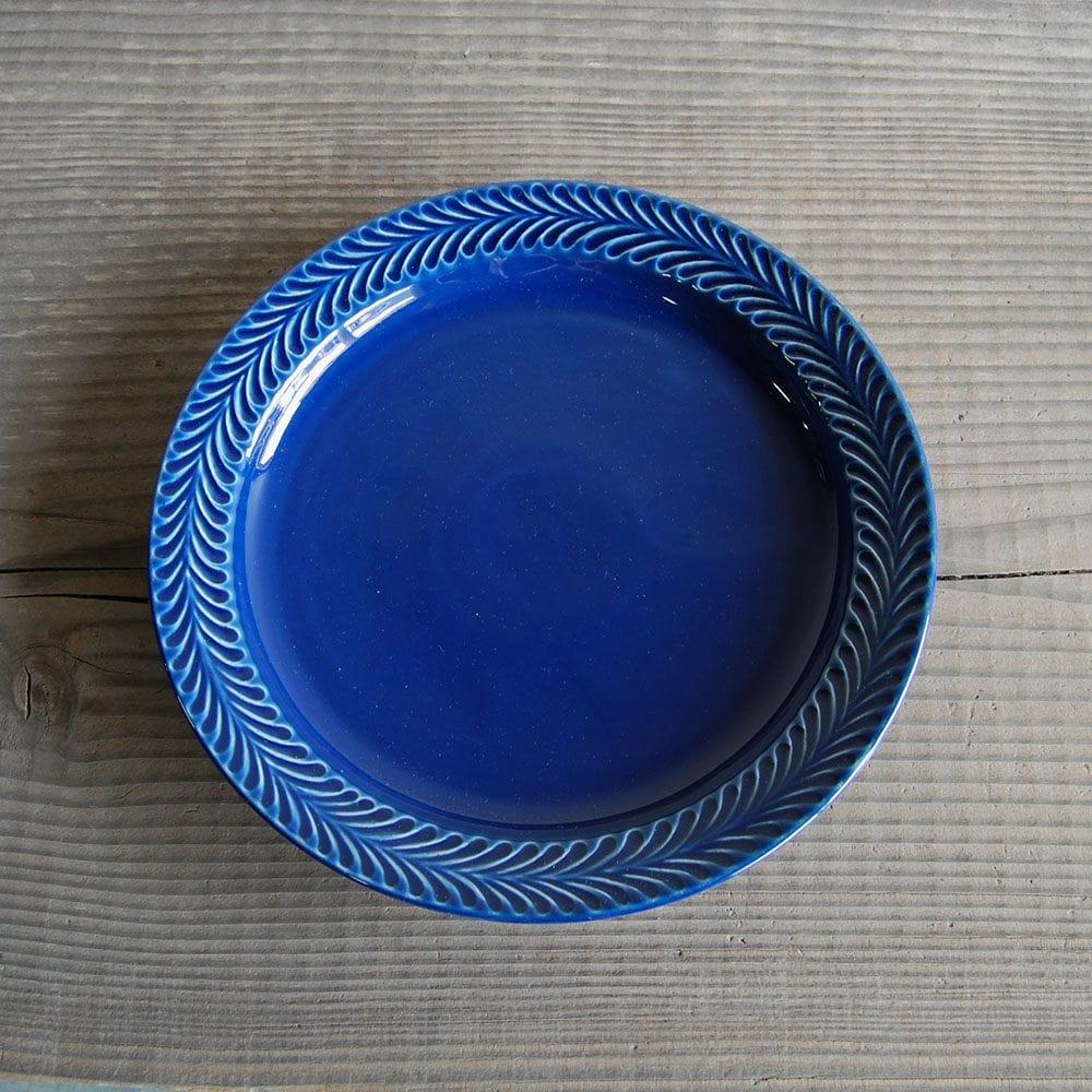 感器工房 波佐見焼 翔芳窯 ローズマリー リムプレート 皿 約24cm ブルー 332778