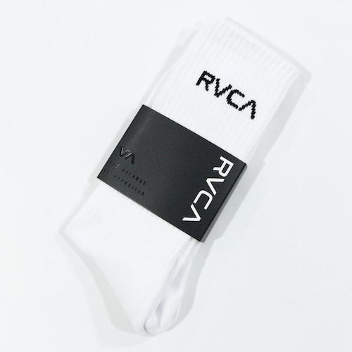 【RVCA】UNION SQUARE SOCK (WHITE)