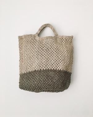 Jute macrame shopping bag Nat/Olive ショッピングバッグ ナチュラル/オリーブ