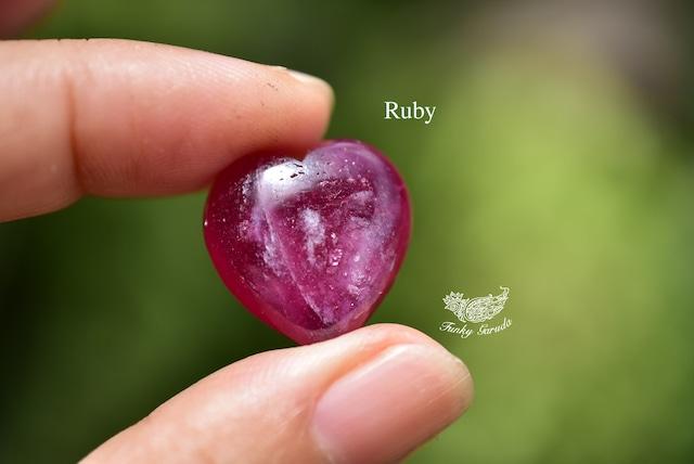 赤ピンク★ハート型★ルビー ルース rub010