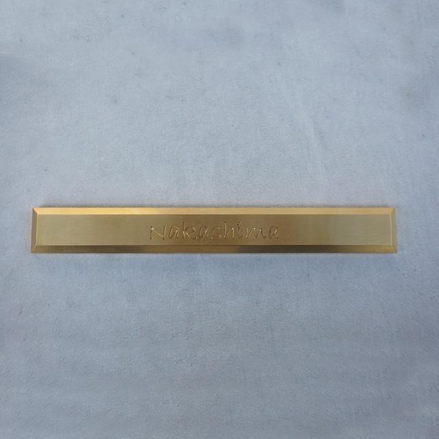 真鍮 ネームプレートsizeL
