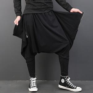 サルエルパンツ ストリート系 レディース メンズ ロングパンツ カジュアルパンツ 個性 ヒップホップダンス衣装 ダンスパンツ 舞台衣装 2735