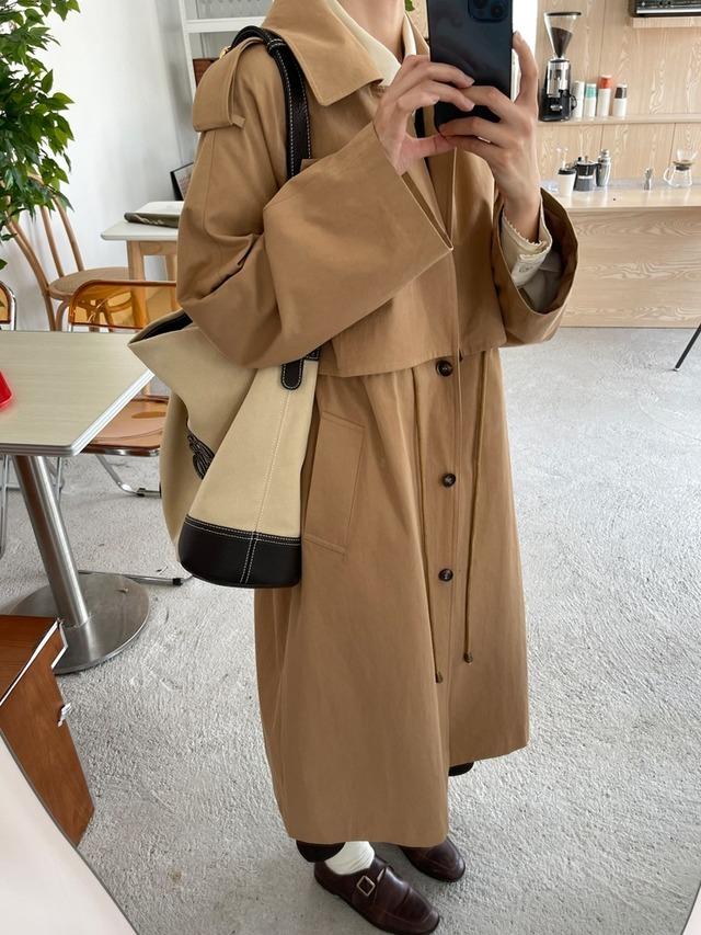 Like layered trench coat(ライクレイヤードトレンチコート)b-506