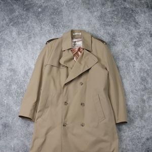 """70s  """" Misty Harbor """"  Trench  Coat   38   70年代 トレンチコート ダブル ベージュ メンズM 古着 A622"""