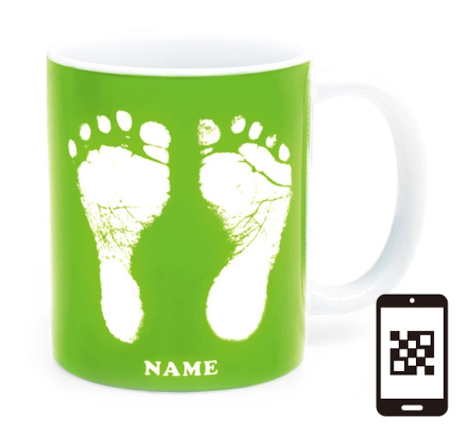 ai mug   A-type (LIGHT GREEN) QRコード付き