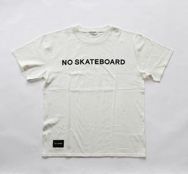NO SKATEBOARD LOGO S/S TEE WHITE