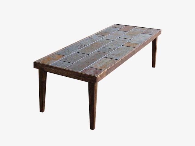 錆石とタモのローテーブル 一点物