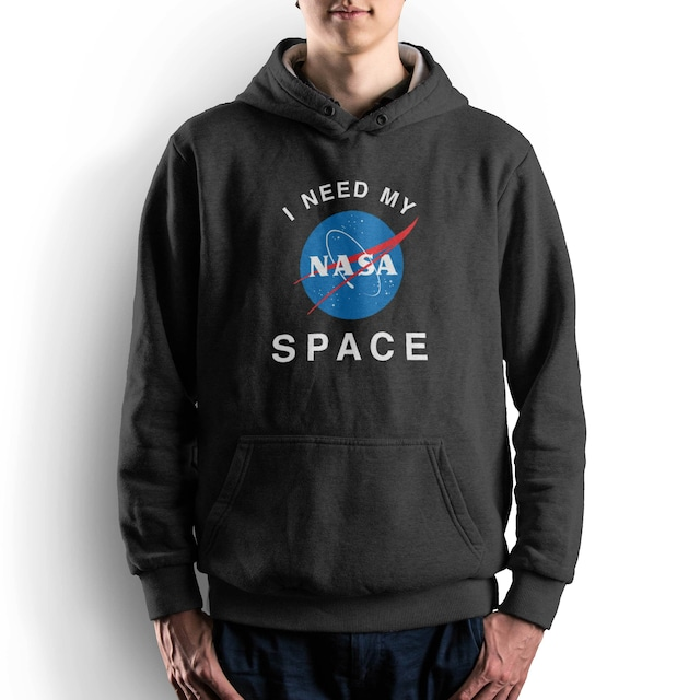 NASA公認(アメリカ航空宇宙局)・パーカー・JERZEES(ジャージーズ)ボディ・インサイニア(ミートボール)・ブラック