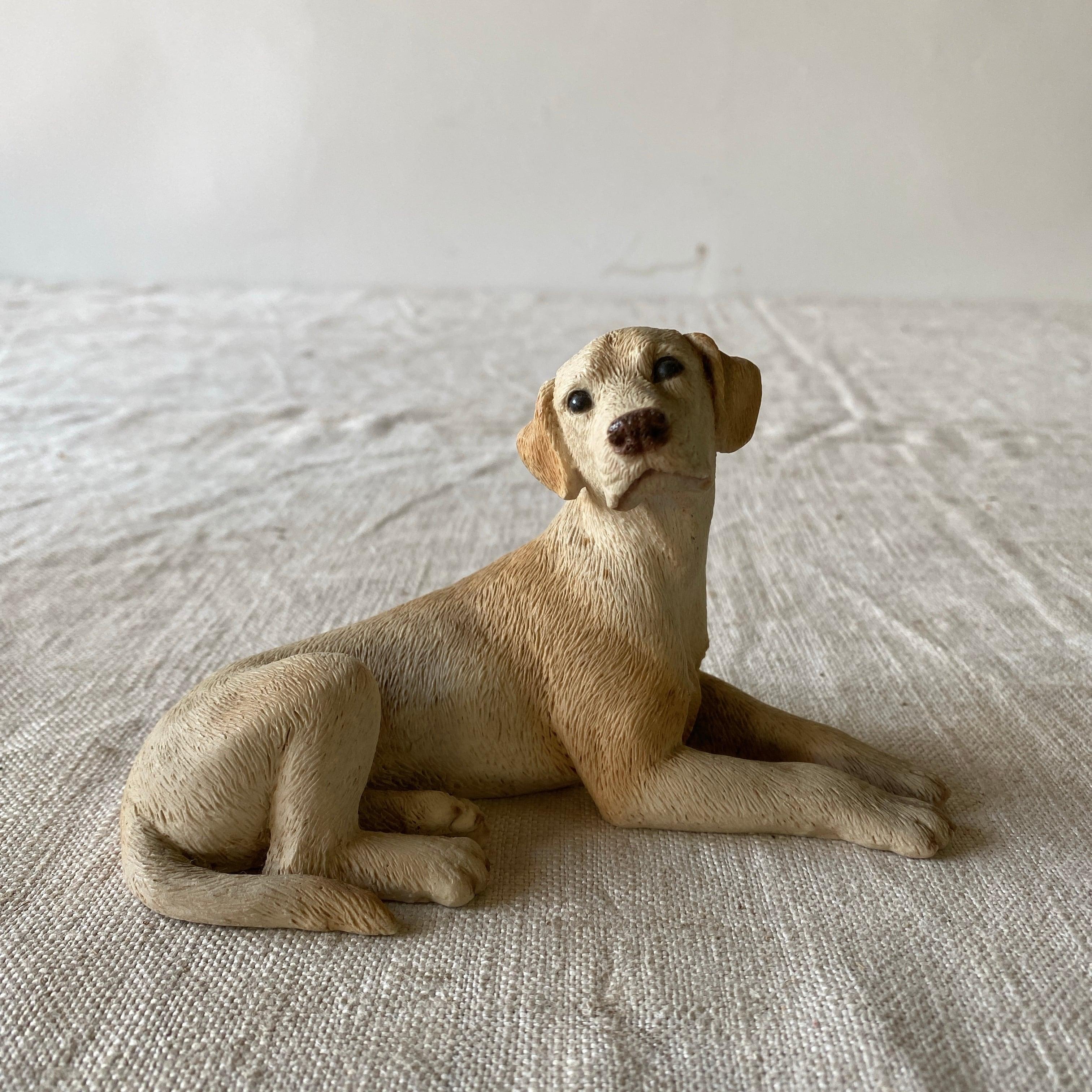 イタリア製のゴールデンリトリバー 犬の置物