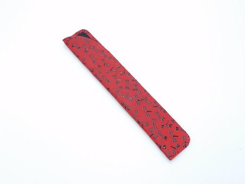 婦人用扇子入れ(扇子入れ小)赤/黒 トンボ柄