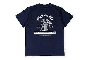 【high on life T-shirt】/ navy