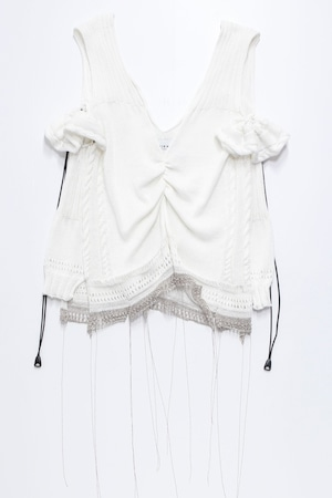 21SS Flared Sleeve Knit Tops