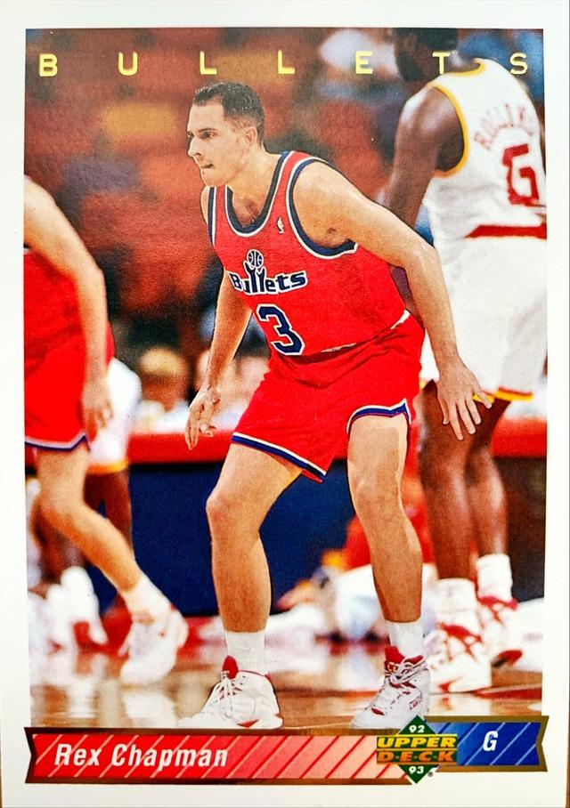 NBAカード 92-93UPPERDECK Rex Chapman #79 BULLETS