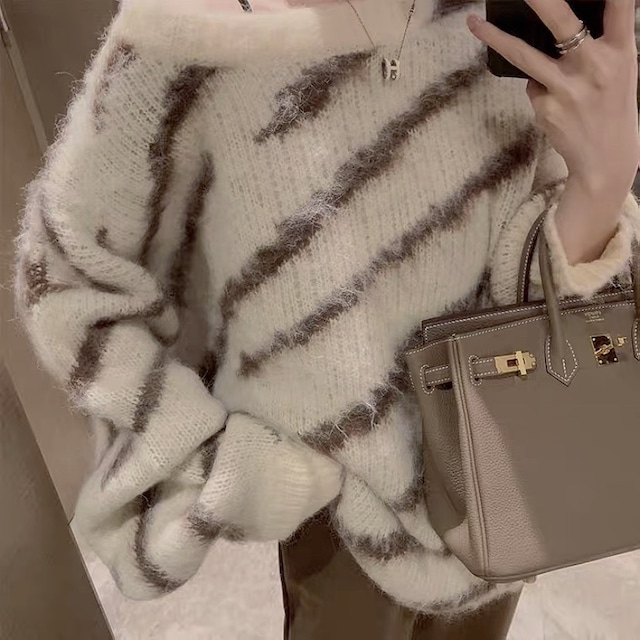 boa stripe knit