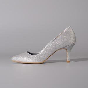 Glitter / Close Toe / 7cm / Silver【7005 SVG】