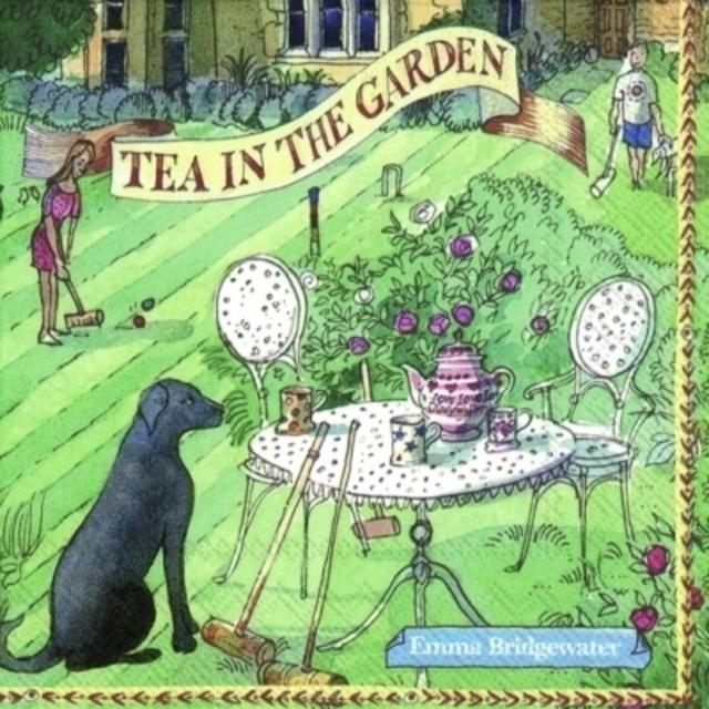 【Emma Bridgewater】バラ売り2枚 ランチサイズ ペーパーナプキン TEA IN THE GARDEN グリーン