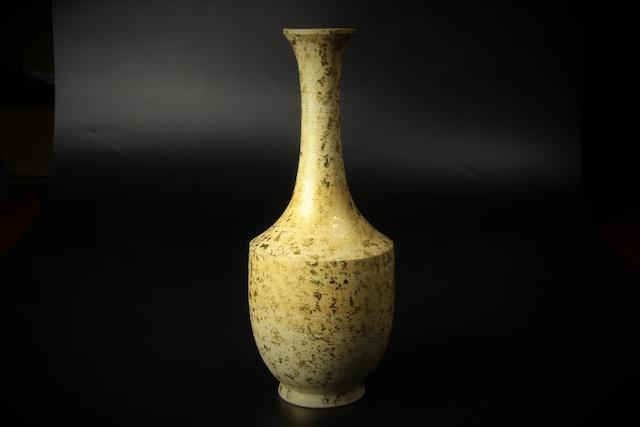 金箔鶴首花瓶 清水焼