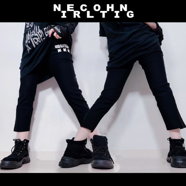 NieR CROPPED BLACK PANTS