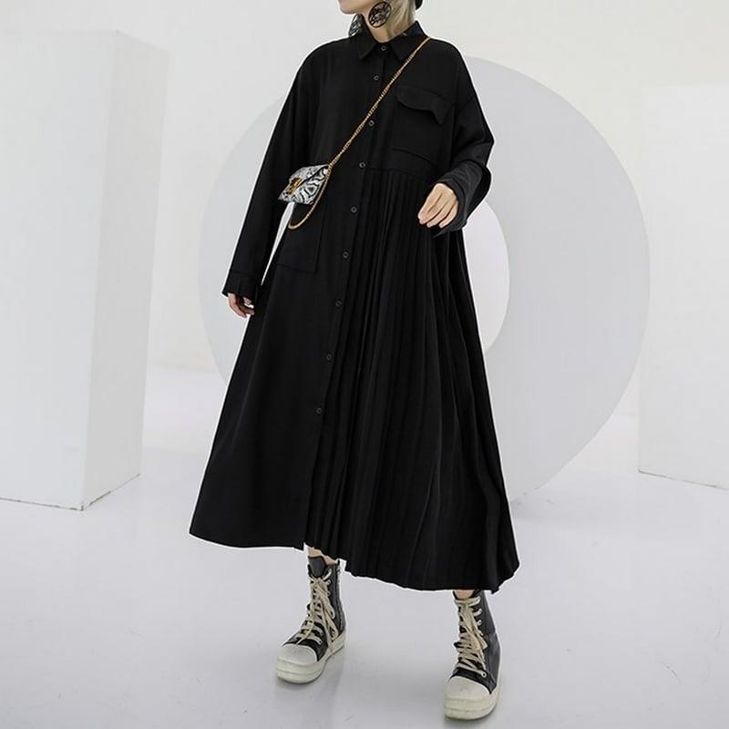 プリーツスカートドレス   1-068