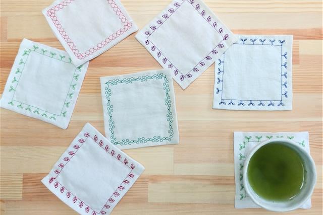 【茶染めコースター】くすみおばさんの手作りお茶染めコースター