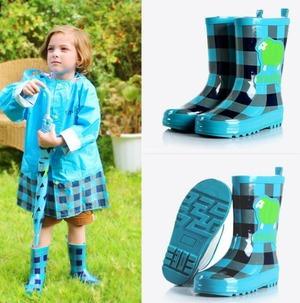7860雨靴 キッズ  子供 子ども  ジュニア 長靴 男児 女児  レインブーツ 女の子 男の子 レインシューズ14.5cm-24cm ブルー