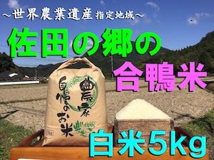 【令和3年新米】佐田の郷の米(白米5kg/玄米5.5kg)【アイガモ米】